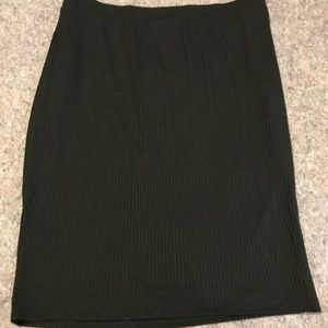 Women's Size 3x Ava & Viv Black Ribbed Skirt